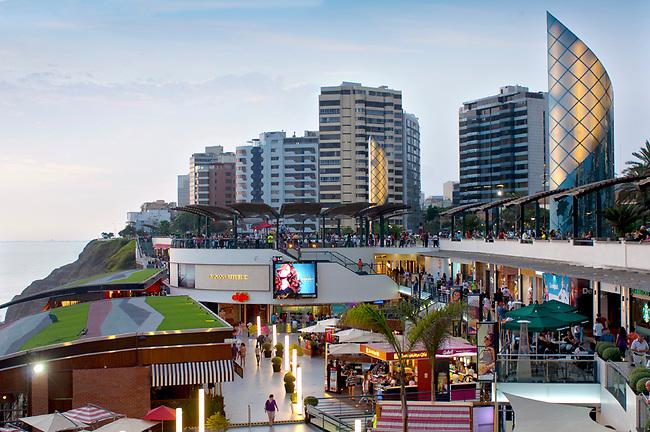 Lima, Peru, Larcomar, Food And Shopping Complex, Miraflores District