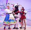 Jack and the Beanstalk <br /> by Susie McKenna with music by Steven Edis <br /> at the Hackney Empire, London, Great Britain <br /> press photocall <br /> 25th November 2015  <br /> <br /> Clive Rowe as Dame Daisy Trott<br /> <br /> Debbie Kurup as Jack <br /> <br /> <br /> <br /> <br /> Photograph by Elliott Franks <br /> Image licensed to Elliott Franks Photography Services