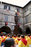 Gubbio 15 MAY .Festival of the Ceri.The Exhibition of the Cero  St Ubaldo ..http://www.ceri.it/ceri_eng/index.htm.