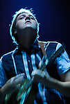Win Butler of Arcade Fire performing at the Austin City Limits Music Festival in Austin Texas on September 15, 2007.