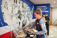 Winnipeg, Canada- June 6, 2015: The USWNT has lunch before the group games of the FIFA Women's World Cup.