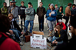 Students and faculty attend a teach-in outside a meeting of the UC Regents at UC Davis, No ember 28, 2011.