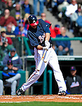 3 March 2010: Atlanta Braves' infielder Troy Glaus in action during a Grapefruit League game against the New York Mets at Champion Stadium in the ESPN Wide World of Sports Complex in Orlando, Florida. The Braves defeated the Mets 9-5 in the Spring Training matchup. Mandatory Credit: Ed Wolfstein Photo