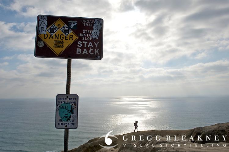 Goat Trail Hiker - Black's Beach - La Jolla - California