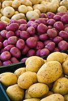 Farm-fresh produce fresh, vegetables, Red, White, Potatoes