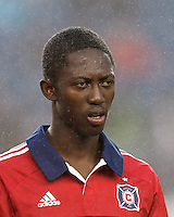 Chicago Fire forward Patrick Nyarko (14). In a Major League Soccer (MLS) match, the New England Revolution defeated Chicago Fire, 2-0, at Gillette Stadium on June 2, 2012.