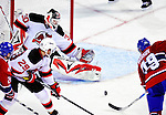 9 January 2010: New Jersey Devils' goaltender Martin Brodeur makes an overtime save against the Montreal Canadiens at the Bell Centre in Montreal, Quebec, Canada. The Devils edged out the Canadiens 2-1 in overtime. Mandatory Credit: Ed Wolfstein Photo