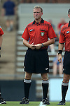 22 August 2014: Fourth official Eric Varone. The Duke University Blue Devils played The Ohio State University Buckeyes at Fetzer Field in Chapel Hill, NC in a 2014 NCAA Division I Women's Soccer match. Ohio State won the game 1-0.