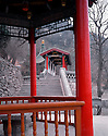 AA01211-01...CHINA - Pavillion at Huaqing Hot Spring near Xi'an.