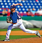 3 March 2009: Washington Nationals' pitcher Wil Ledezma on the mound against Italy in a Spring raining exhibition game at Space Coast Stadium in Viera, Florida. The Nationals defeated Italy 9-6. Mandatory Photo Credit: Ed Wolfstein Photo