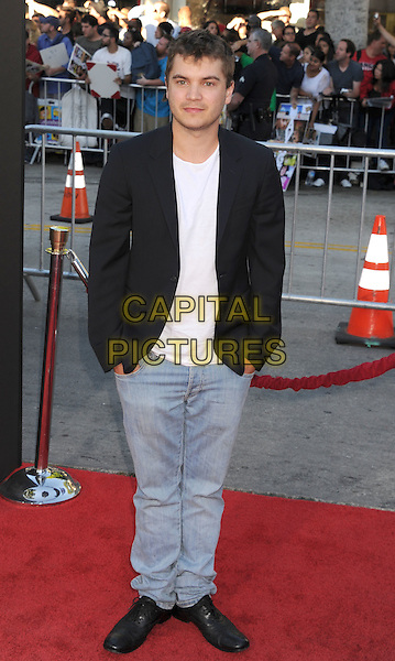"Emile Hirsch.arriving at the Los Angeles premiere of ""Savages"" at Mann Village Theatre in Westwood, California, USA, .June 25th, 2012..full length jeans black jacket hands in pockets .CAP/ROT/TM.©TM/Roth Stock/Capital Pictures"
