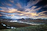 Clouds race over the Brooks Range, Kongakut River, Arctic National Wildlife Refuge, Alaska, USA