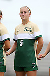 30 August 2015: William & Mary's Nicole Baxter. The Duke University Blue Devils hosted the William & Mary University Tribe at Koskinen Stadium in Durham, NC in a 2015 NCAA Division I Women's Soccer game. Duke won the game 2-0.
