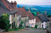 Gold Hill, Shaftesbury, Dorset, England.