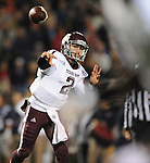 Texas A&amp;M quarterback Johnny Manziel (2) passes against Mississippi in Oxford, Miss. on Saturday, October 6, 2012. (AP Photo/Oxford Eagle, Bruce Newman)..