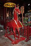 Hanoi, Vietnam, A large Red Horse inside Ngoc Son (Jade Mountain) Temple photo taken July 2008.