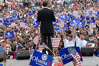 ATLANTA, GA - April 14, 2007:  United States Senator and Democratic Presidential candidate Barack Obama speaking at Georgia Tech in Atlanta, Georgia.