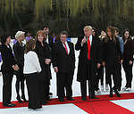 Donald Trump Introduces the the Figure Skating In Harlem Founder and Excutive Director Sharon Cohen at The 2011 Figure Skating in Harlem - Skating with the Stars Honoring Tina and Terry Lundgren, Sarah Hughes and Lola C. West at the Wollman Rink, NY 4/4/11