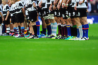 A general view of the Barbarians' players club socks prior to the match. Killik Cup International match, between the Barbarians and South Africa on November 5, 2016 at Wembley Stadium in London, England. Photo by: Patrick Khachfe / JMP
