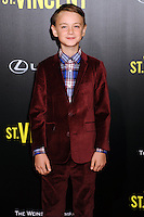 NEW YORK CITY, NY, USA - OCTOBER 06: Jaeden Lieberher arrives at the New York Premiere Of The Weinstein Company's 'St. Vincent' held at the Ziegfeld Theatre on October 6, 2014 in New York City, New York, United States. (Photo by Celebrity Monitor)