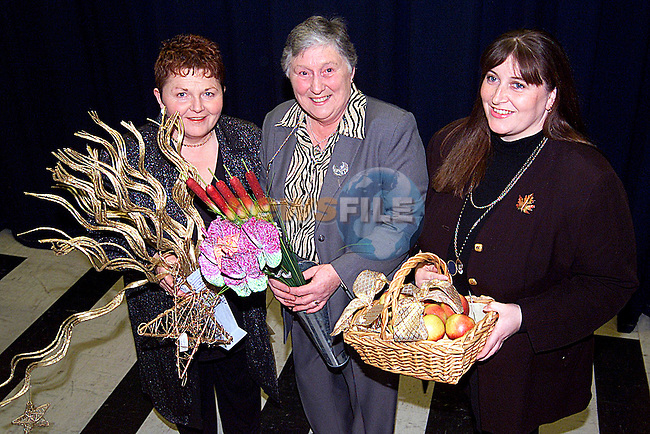 Bridie Brannigan, Bernie Gregory and Collette McDonnell at teh Flower Show in the MMM Auditorium..Picture: Paul Mohan/Newsfile