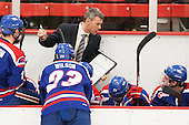 Norm Bazin (UML - Head Coach) - The visiting University of Massachusetts Lowell River Hawks defeated the Harvard University Crimson 5-0 on Monday, December 10, 2012, at Bright Hockey Center in Cambridge, Massachusetts.