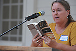 Sharron Sarthou reads The Reivers, written by Nobel Prize winning author William Faulkner,  at the late writer's home of Rowan Oak in Oxford, Miss. on Friday, July 6, 2012. Faulkner died 50 years ago on July 6, 1962. Over 100 people are reading from the book to commemorate the occasion.