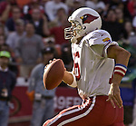 Arizona Cardinals quarterback Jake Plummer (16) runs with ball on Sunday, October 27, 2002, in San Francisco, California. The 49ers defeated the Cardinals 38-28.