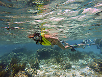 Grand Cayman. Boat excursion. Snorkeling at the North Wall.