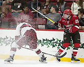 Jake Horton (Harvard - 19), Mike Marnell (SLU - 26) - The Harvard University Crimson defeated the St. Lawrence University Saints 6-3 (EN) to clinch the ECAC playoffs first seed and a share in the regular season championship on senior night, Saturday, February 25, 2017, at Bright-Landry Hockey Center in Boston, Massachusetts.