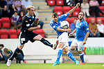 St Johnstone v Dundee...13.09.14  SPFL<br /> Adam Morgan's shot goes wide<br /> Picture by Graeme Hart.<br /> Copyright Perthshire Picture Agency<br /> Tel: 01738 623350  Mobile: 07990 594431