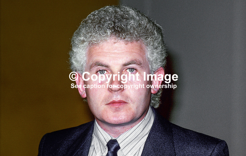 John McCreadie, deputy general secretary, CPSA, trade union, 19870910JM.<br />