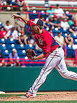 16 March 2014: Washington Nationals pitcher Blake Treinen on the mound during a Spring Training Game against the Detroit Tigers at Space Coast Stadium in Viera, Florida. The Tigers edged out the Nationals 2-1 in Grapefruit League play. Mandatory Credit: Ed Wolfstein Photo *** RAW (NEF) Image File Available ***