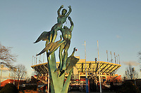Statue, Freedom of the Human Spirit, by Marshall Fredericks,Located in Flushing Meadows - Corona Park, Arthur Ashe Stadium, Queens, New York City, NY