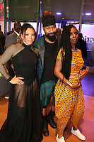 LOS ANGELES, CA - JUNE 26: Tisha Campbell, Hunter and Tasha Smith at the 2016 BET Awards after party at JW Marriott in Los Angeles, California on June 26, 2016. Credit: Walik Goshorn/MediaPunch