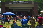 WATERBURY, CT - 20 MAY 2017 - 052017JW03.jpg -- The Mason West Band performs for an audience during Vet Fest Saturday afternoon at Library Park.   Jonathan Wilcox Republican-American
