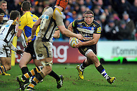 Henry Thomas of Bath Rugby in possession. Aviva Premiership match, between Bath Rugby and Wasps on February 20, 2016 at the Recreation Ground in Bath, England. Photo by: Patrick Khachfe / Onside Images