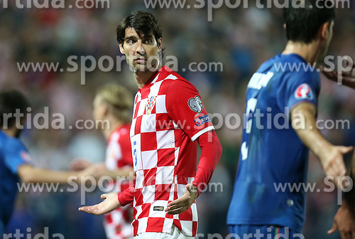 13.10.2014, Stadion Gradski vrt, Osijek, CRO, UEFA Euro Qualifikation, Kroatien vs Aserbaidschan, Gruppe H, im Bild Vedran Corluka // during the UEFA EURO 2016 Qualifier group H match between Croatia and Azerbaijan at the Stadion Gradski vrt in Osijek, Croatia on 2014/10/13. EXPA Pictures &copy; 2014, PhotoCredit: EXPA/ Pixsell/ Igor Kralj<br /> <br /> *****ATTENTION - for AUT, SLO, SUI, SWE, ITA, FRA only*****