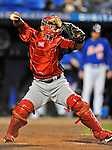 5 March 2012: Washington Nationals catcher Jhonatan Solano in action during a Spring Training game against the New York Mets at Digital Domain Park in Port St. Lucie, Florida. The Nationals defeated the Mets 3-1 in Grapefruit League play. Mandatory Credit: Ed Wolfstein Photo