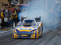 Jul 23, 2016; Morrison, CO, USA; NHRA funny car driver Ron Capps during qualifying for the Mile High Nationals at Bandimere Speedway. Mandatory Credit: Mark J. Rebilas-USA TODAY Sports
