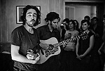 "Patrick Watson (Canada) performing at the ""Soiree de poche #3"" (pocket night #3): a concert happening in an appartment. Organised by La Blogotheque.. .June 2008, 30th / photo: Antoine Doyen"