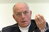 Roma 19 Ottobre 2015<br /> Conferenza stampa di presentazione della Guida agli eventi della diocesi di Roma per il Giubileo della misericordia. Monsignor Liberio Andreatta, Vice Presidente e Amministratore Delegato Opera Romana Pellegrinaggi.<br /> Rome 19 October 2015<br /> Press conference to present the Events Guide of the Diocese of Rome for the Holy Year of Mercy. Monsignor Liberio Andreatta, Vice President and Managing Director Opera Romana Pilgrimages.