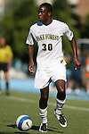 2 September 2007: Wake Forest's Lyle Adams. The Wake Forest University Demon Deacons defeated the Monmouth University Hawks 2-0 at Fetzer Field in Chapel Hill, North Carolina in an NCAA Division I Men's Soccer game.
