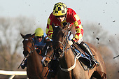 Vinomore ridden by Sam Twiston-Davies in action during the Timmy Jones Keep The Faith Memorial Mares Novices Hurdle - Horse Racing at Huntingdon Racecourse, Cambridgeshire - 23/02/12- MANDATORY CREDIT: Gavin Ellis/TGSPHOTO - Self billing applies where appropriate - 0845 094 6026 - contact@tgsphoto.co.uk - NO UNPAID USE.