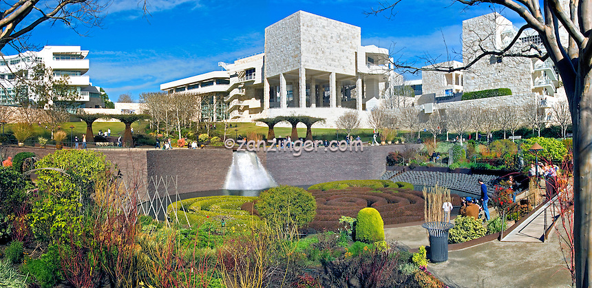 J. Paul Getty Museum Central Garden Panorama, unique,