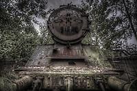 Steam train grave yard