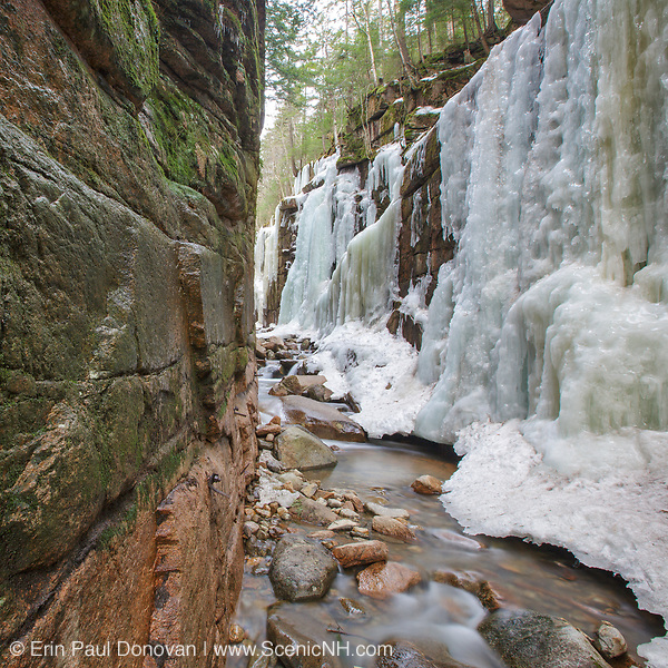 This photo represents April in the 2018 White Mountains New Hampshire calendar. Flume Gorge in Franconia Notch State Park in Lincoln, New Hampshire. You can purchase a copy of the calendar here: http://bit.ly/2rND4Kf