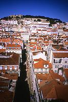 A Baixa seen from Elevador da Santa Justa, Lisboa, Portugal, June 2012.