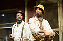 London, UK. 21.06.2013. FENCES, by August Wilson, opens at the Duchess Theatre, in London's West End, following a successful run at Theatre Royal Bath. Lenny Henry takes on the lead role of Troy Maxson in, this production, which is directed by Paulette Randall. Picture shows: Lenny Henry (Troy Maxson) and Ako Mitchell (Gabriel). Photograph © Jane Hobson.