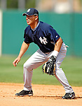 16 March 2007: New York Yankees infielder Angel Chavez in action against the Houston Astros at Osceola County Stadium in Kissimmee, Florida...Mandatory Photo Credit: Ed Wolfstein Photo